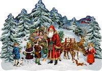 Cover von A3-Wandkalender – Schlitten im Winterwald