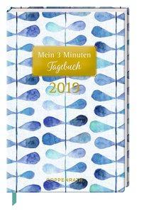 Cover von Mein 3 Minuten Tagebuch 2019 (Blaue Blätter)