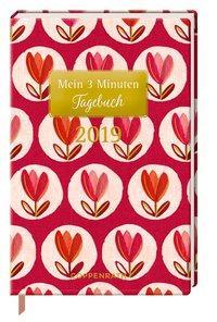 Cover von Mein 3 Minuten Tagebuch 2019 (Rote Tulpen)