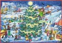 Cover von Wand-Adventskalender - Winterzauber im Hexendorf
