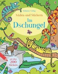 Cover von Malen und Stickern: Im Dschungel