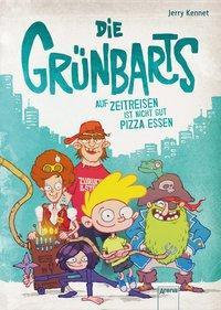 Cover von Die Grünbarts (1). Auf Zeitreisen ist nicht gut Pizza essen
