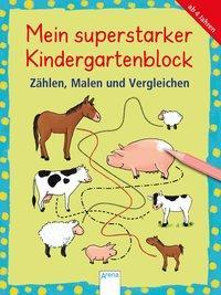 Cover von Mein superstarker Kindergartenblock. Zählen, Malen und Vergleichen