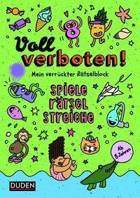 Cover von Voll verboten! Mein verrückter Rätselblock 3 - Ab 8 Jahren