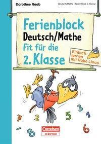 Cover von Einfach lernen mit Rabe Linus - Deutsch / Mathe Ferienblock 2. Klasse