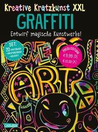 Cover von Kreative Kratzkunst XXL: Graffiti: Set mit 20 Kratztafeln, Mappe, Anleitungsbuch und Holzstift