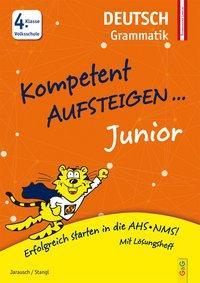Cover von Kompetent Aufsteigen Junior Deutsch - Grammatik 4. Klasse VS