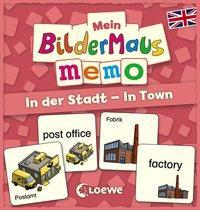 Cover von Mein Bildermaus-Memo - Englisch - In der Stadt - In Town