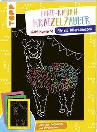 Cover von Bunte Rahmen Kratzelzauber für die Allerkleinsten: Lieblingstiere