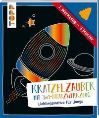 Cover von Kratzelzauber mit Kratzwerkzeug Jungs
