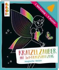 Cover von Kratzelzauber mit Kratzwerkzeug Magische Wesen