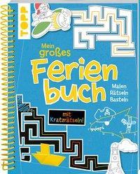 Cover von Mein großes Ferienbuch mit Kratzrätseln! (Blau)