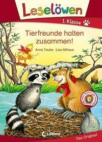 Cover von Leselöwen 1. Klasse - Tierfreunde halten zusammen!