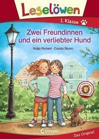 Cover von Leselöwen 1. Klasse - Zwei Freundinnen und ein verliebter Hund