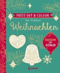 Cover von Press Out & Colour - Weihnachten