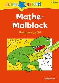 Cover von Mathe-Malblock 1. Klasse. Rechnen bis 20