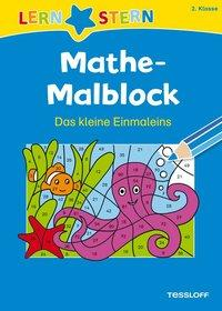 Cover von Mathe-Malblock 2. Klasse. Das kleine Einmaleins