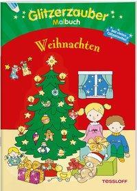 Cover von Glitzerzaubermalbuch. Weihnachten