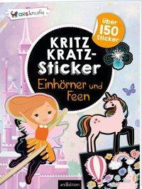 Cover von Kritzkratz-Sticker Einhörner und Feen