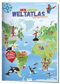 Cover von Trötsch Stickerbuch Mein erster Weltatlas